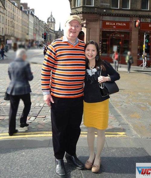 Chị Kim Anh và anh chồng người Anh