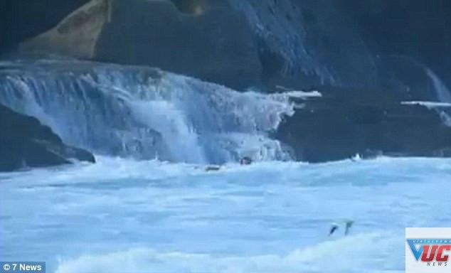 Nạn nhân va chạm vào tảng đá lớn The Twins