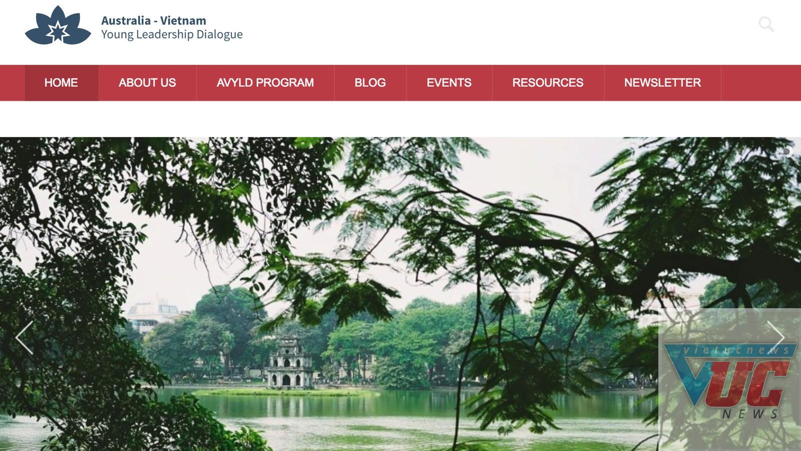 Trang web của Diễn đàn Đối thoại lãnh đạo trẻ Việt - Úc