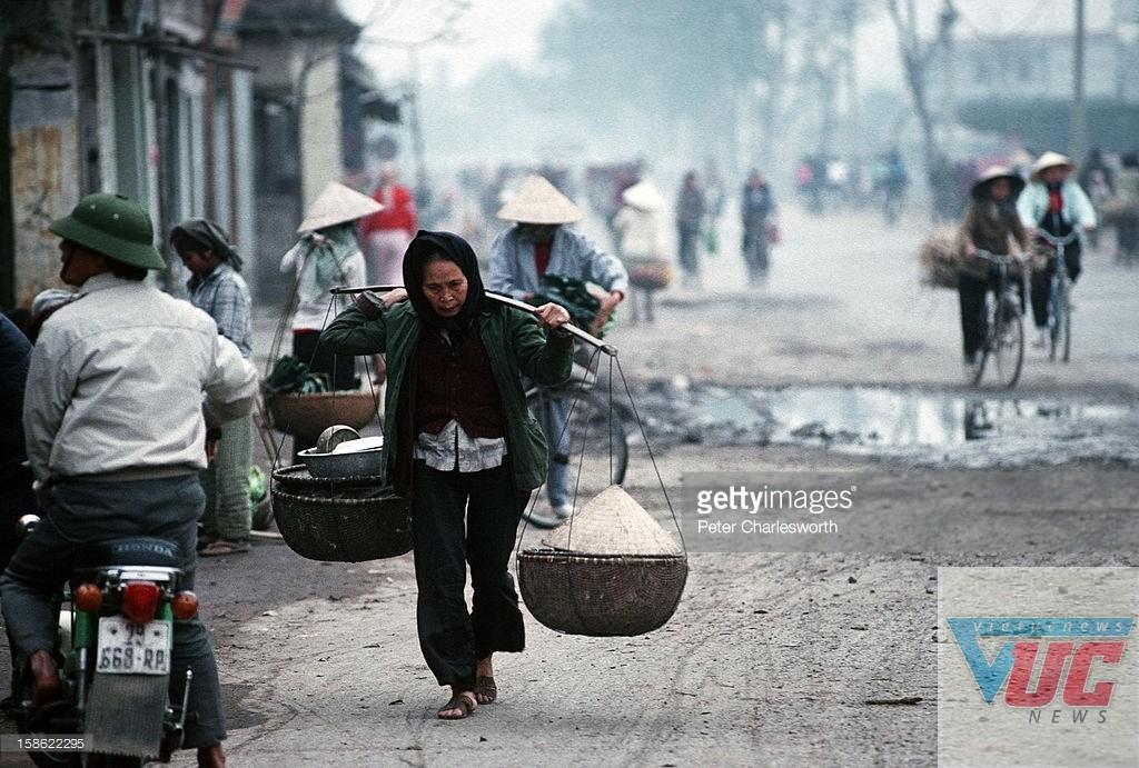 """Nét """"quê"""" của Hà Nội năm 1992."""
