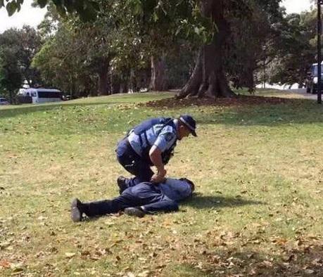 Du khách người Trung Quốc bị hạ ngục sau khi có hành vi chống đối cảnh sát.