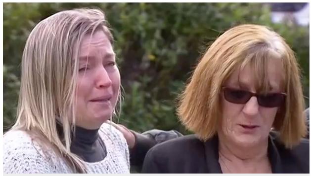 Cô Tracay và mẹ Lesley Brown đã khóc rất nhiều, cầu xin sự trở về của e bé 13 tuổi.