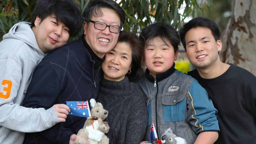Gia đình Hàn Quốc rất hạnh phúc khi có quyết định nhân đạo được ở lại Úc